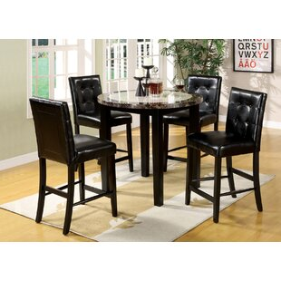 Thibodeaux 5 Piece Pub Table Set by Andrew Home Studio