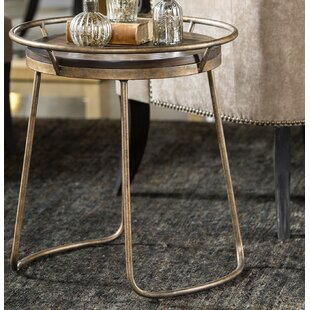 Find Barksdale Round End Table by House of Hampton