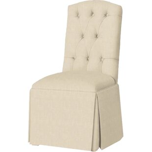 Pearce Diamond Tufted Skirted Side Chair ..