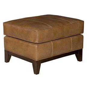 Mcnab Leather Ottoman by B..