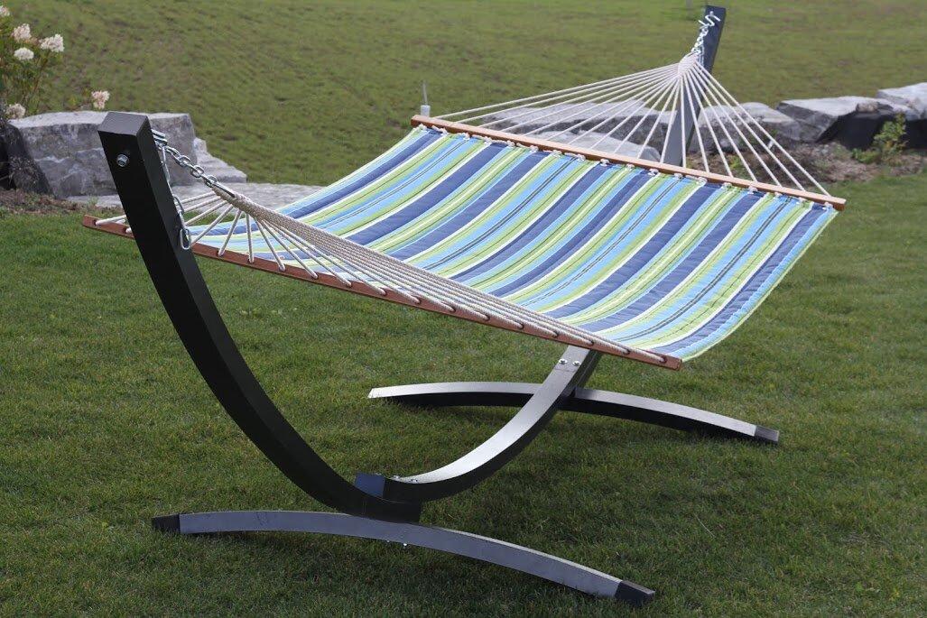 aluminum standard hammock stand vivere hammocks aluminum standard hammock stand  u0026 reviews   wayfair  rh   wayfair