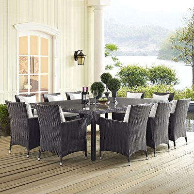 Brentwood 11 Piece Dining Set With Cushion by Sol 72 Outdoor No Copoun