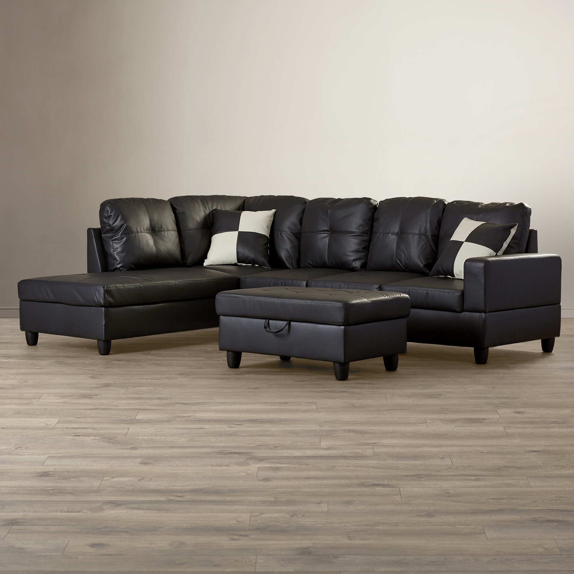 Andover Mills Russ Sectional with Ottoman & Reviews