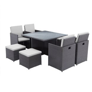 Geraci 8 Seater Dining Set With Cushions By Sol 72 Outdoor