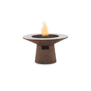 Brown Jordan Fires Mesa Concrete Gas Fire Pit Table