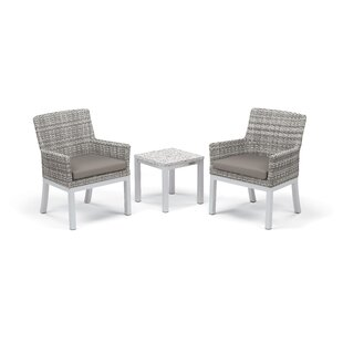 Latitude Run Lambright 3 Piece Conversation Set with Cushions