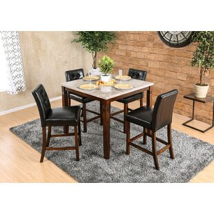 Webber 5 Piece Counter Height Dining Set Fleur De Lis Living