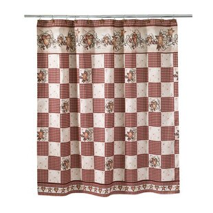 Brendis Hearts & Stars Single Shower Curtain