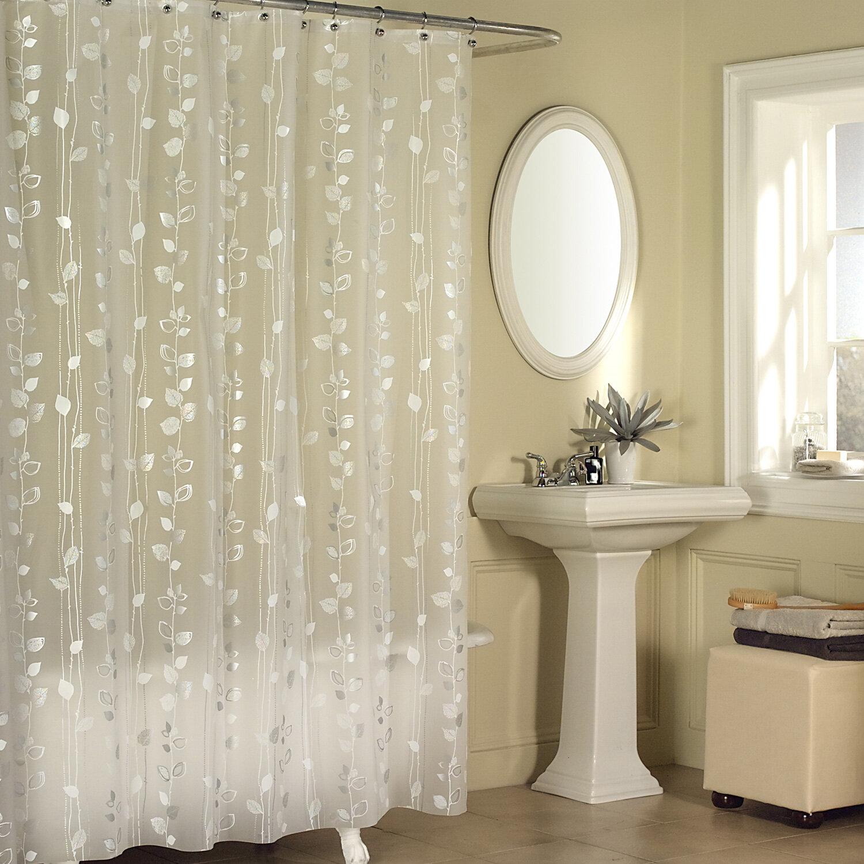 Andover Mills Medina Ivy Vinyl Floral Single Shower Curtain Reviews Wayfair