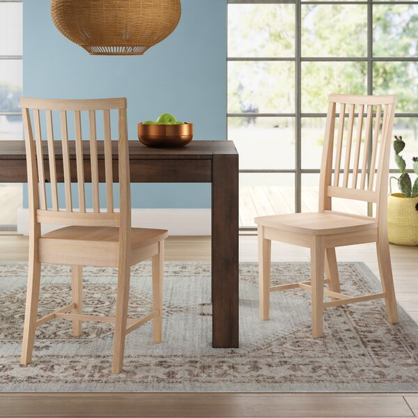 Wood Unfinished Chairs Dining Wayfair