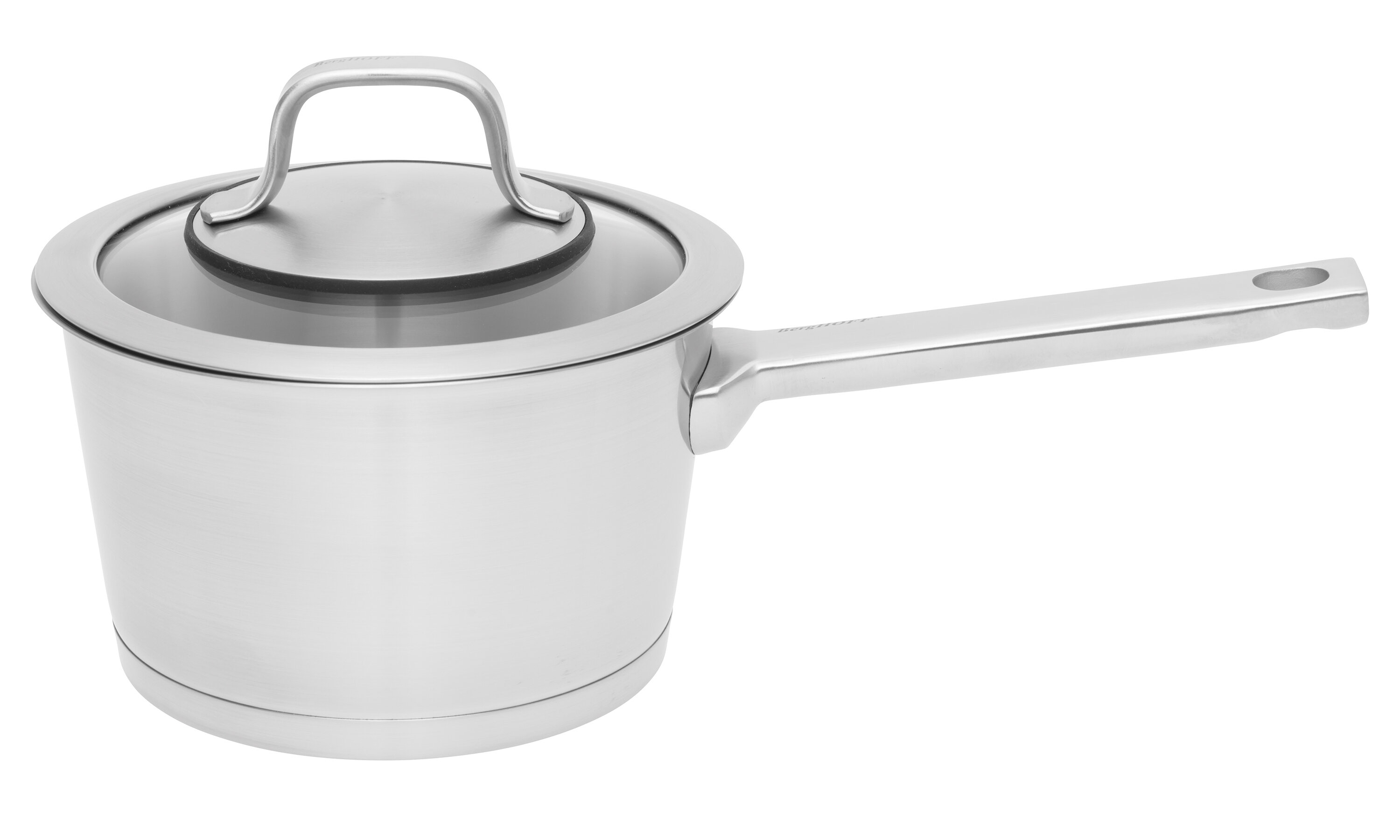 Casserole Induction Compatible Vitroceramique berghoff international manhattan covered 1.8 qt. stainless steel sauce pan  with lid