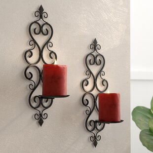 Iron Sconce (Set of 2) & Candle Sconces Youu0027ll Love | Wayfair