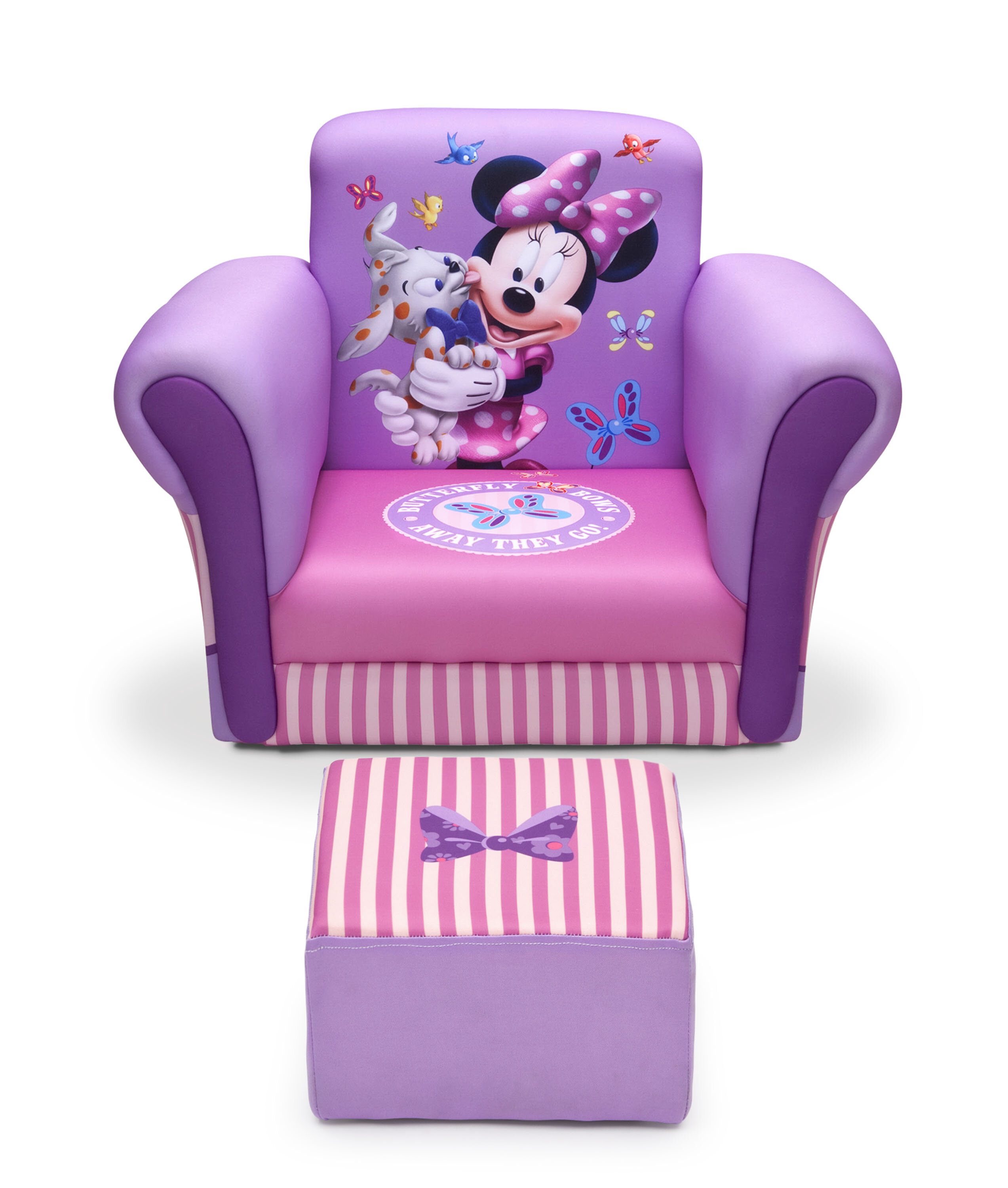 Superbe Delta Children Minnie Mouse Upholstered Kids Club Chair And Ottoman U0026  Reviews | Wayfair