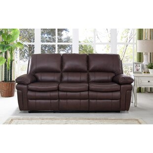 Geismar Leather Reclining Sofa