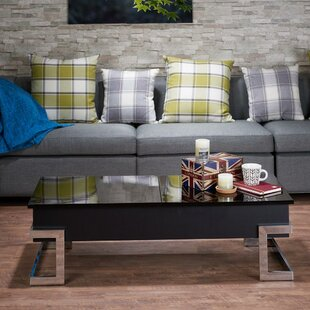 Peden Modern Lift Top Coffee Table With Tray Top