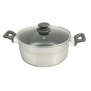 Lexie 5 Qt. Stainless Steel Round Dutch Oven
