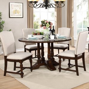 Dakota 5 Piece Dining Set by BestMaste..