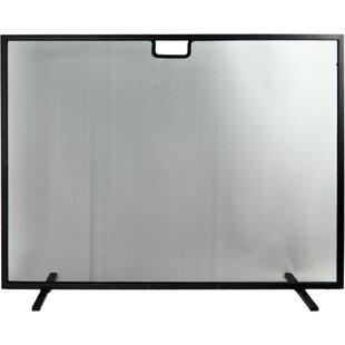 Cory Single Panel Rectangular Iron Fireplace Screen By Belfry Heating