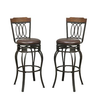 Bobkona Earline 29 Swivel Bar Stool (Set of 2)