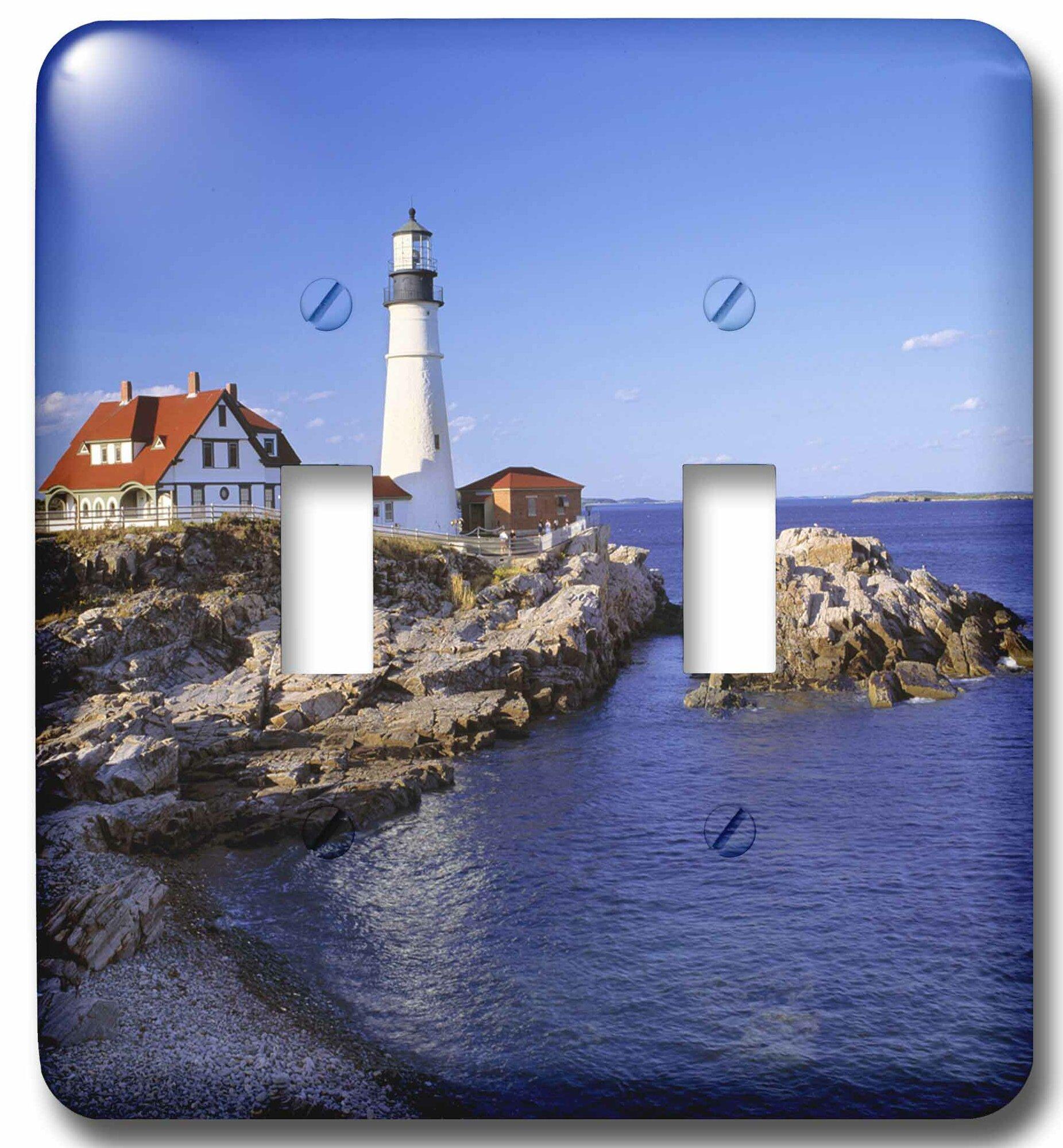3drose Maine Portland Head Lighthouse 2 Gang Toggle Light Switch Wall Plate Wayfair