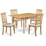 Berkley Drop Leaf Rubberwood Solid Wood Dining Set by Ophelia & Co.