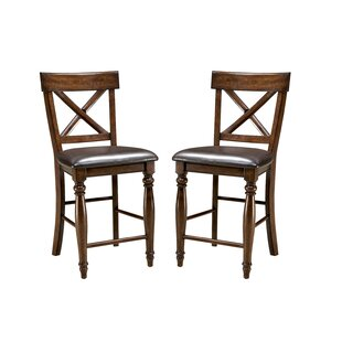 Low priced Whisler 24 Bar Stool (Set of 2) by Millwood Pines Reviews (2019) & Buyer's Guide