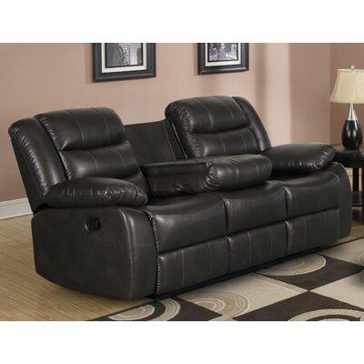 Trista Reclining Sofa Upholstery: Dark Gray