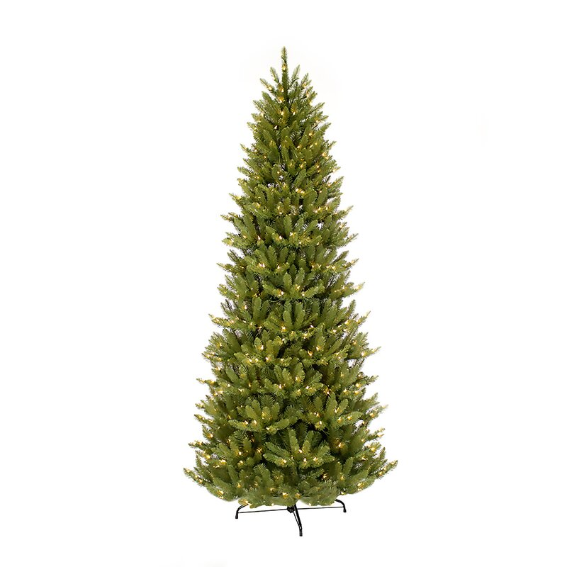 Next Slim Christmas Tree: The Holiday Aisle Pre-lit Slim Fraser Green Fir Artificial