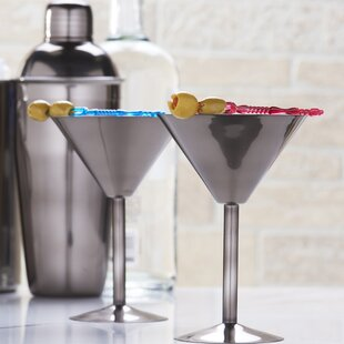6 oz. Stainless Steel Martini Glass (Set of 2)