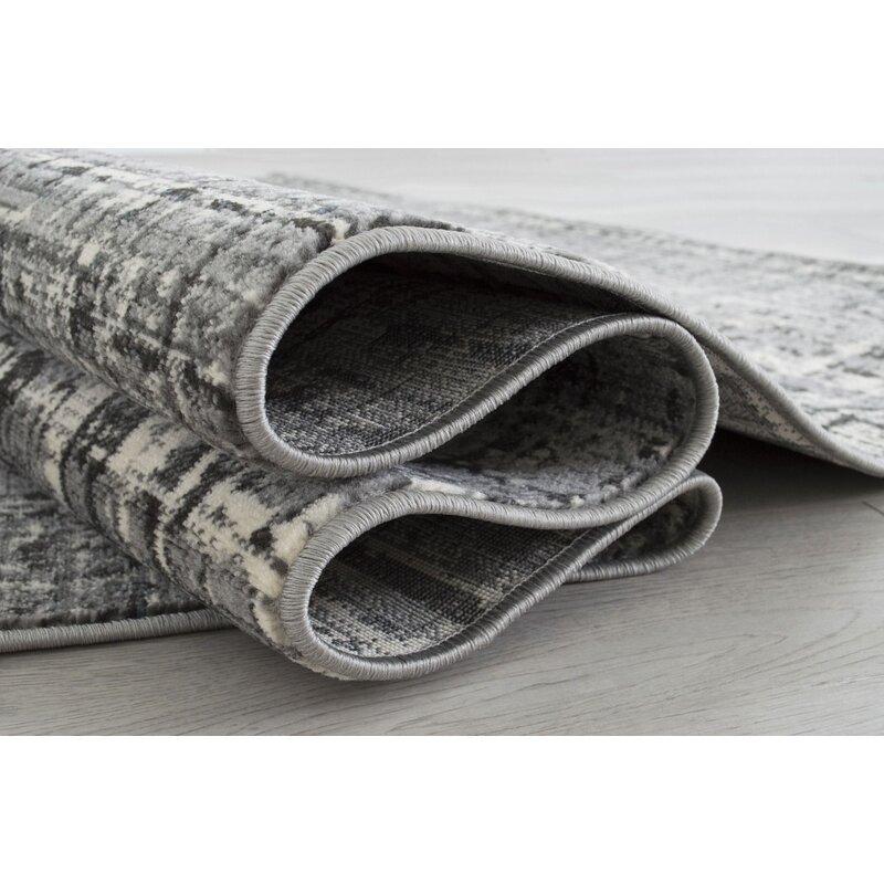 17 Stories Tadley Plaid Gray Area Rug Wayfair