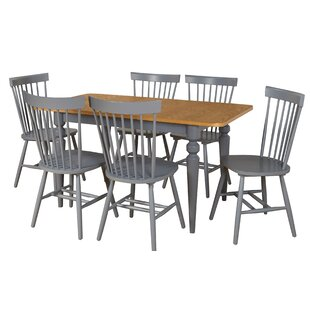 Laurier 7 Piece Solid Wood Dining Set Gracie Oaks