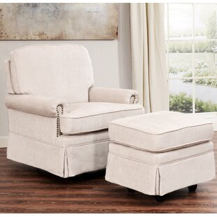 Sitton Swivel Glider and Ottoman