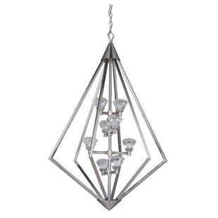 Brayden Studio Errico 8-Light LED Geometric Chandelier