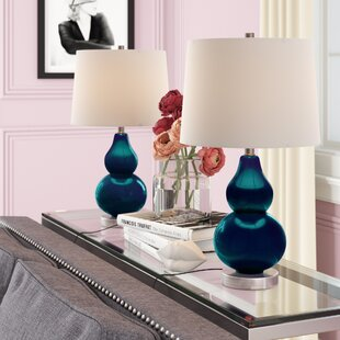 Blue Glass Table Lamps You\'ll Love | Wayfair