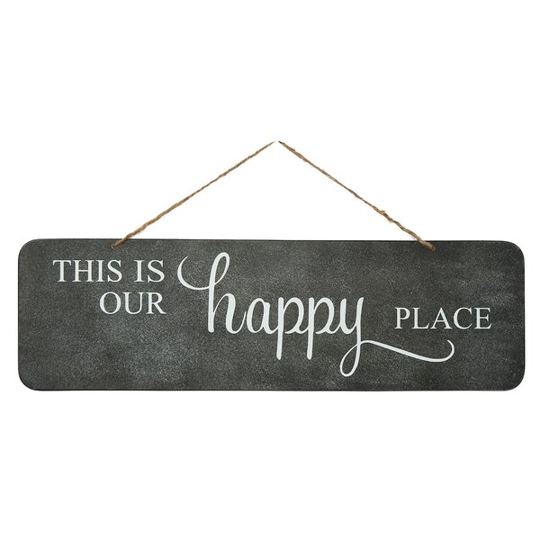 Visitors Bring Happiness Sign Funny Wall Plaque or Hanging Flower Welcome