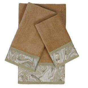 Earlington Embellished 3 Piece Towel Set