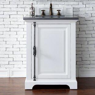 Ogallala 26 Single Cottage White Wood Base Bathroom Vanity Set by Greyleigh