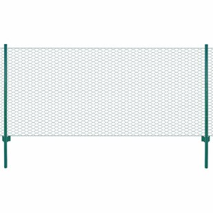 Abie Wire Mesh Fence With Posts 25m X 1.22m By Sol 72 Outdoor