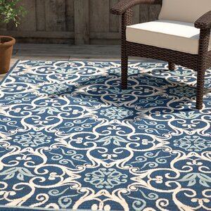 Carleton Navy Indoor/Outdoor Area Rug
