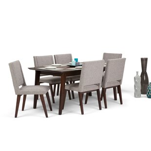 Hamill Mid Century 7 Piece Dining Set by George Oliver 2019 Sale