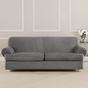 Great choice Ultimate Heavyweight Stretch Suede T-Cushion Sofa Slipcover by Sure Fit Reviews (2019) & Buyer's Guide