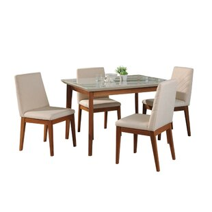 Tedeschi 5 Piece Dining Set by Union Rustic Design