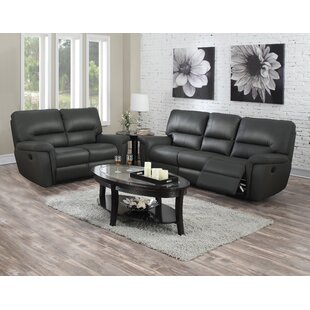 Red Barrel Studio Judlaph Solid Reclining 2 Piece Living Room Set