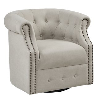 Ansley Swivel Barrel Chair by House of Hampton