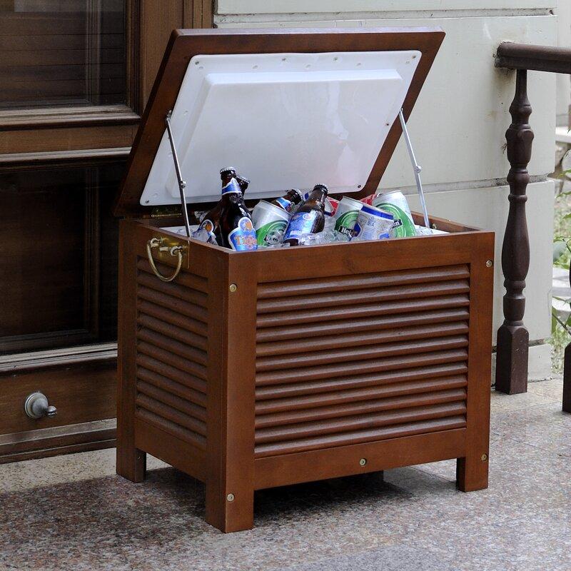 Beau 54.9 Qt. Outdoor Wooden Patio Cooler