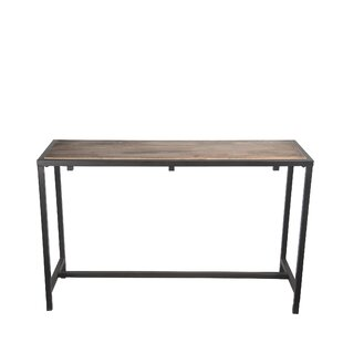 Kensett Metal Reclaimed Wood Console Table