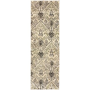 Great Price Callicoon Damask Beige Area Rug By Charlton Home