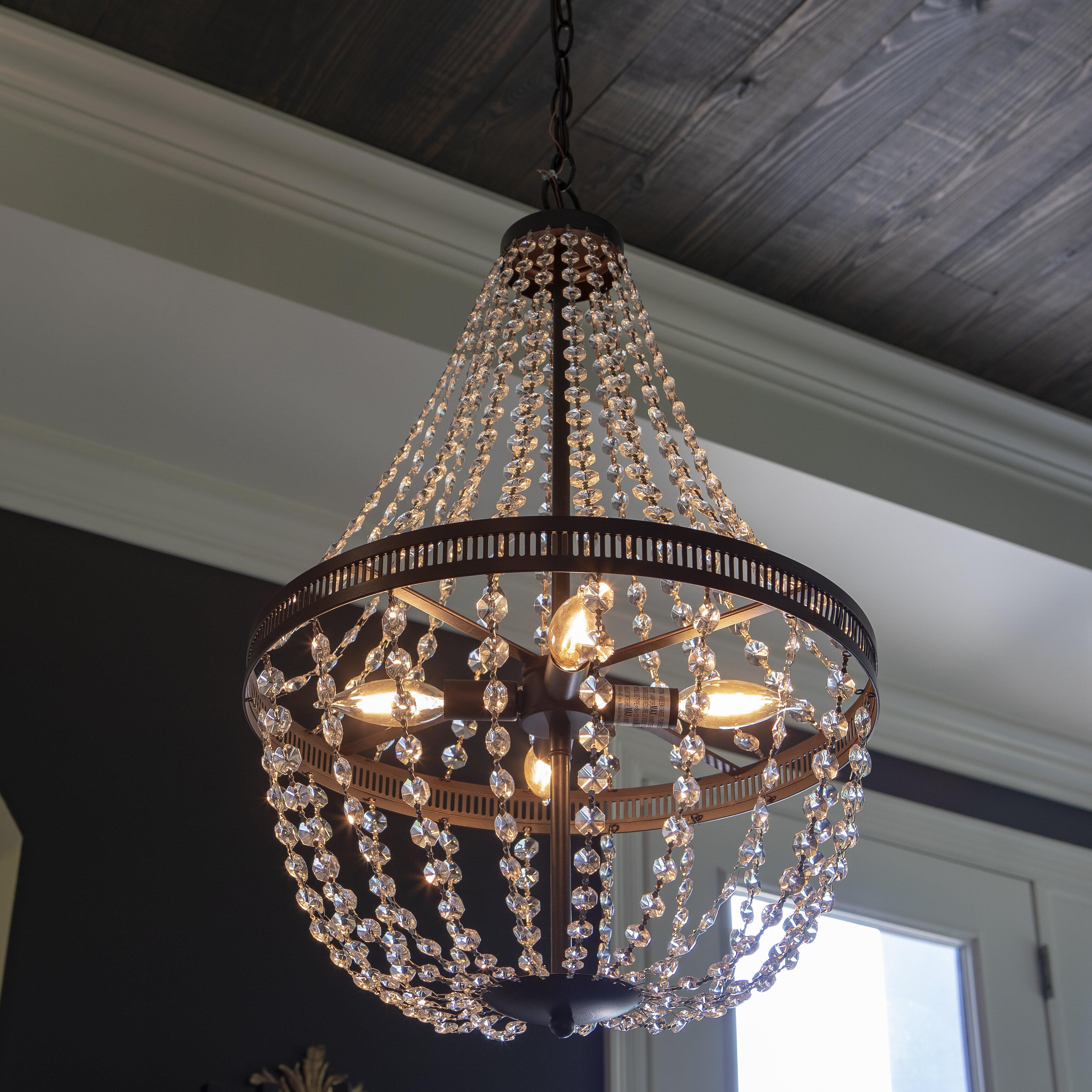 Weidman 4 light crystal chandelier