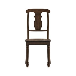 Petrucci Napoleon Back Solid Wood Dining Chair (Set of 2)