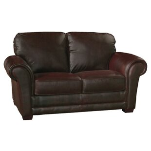 Williston Forge Buda Leather Loveseat